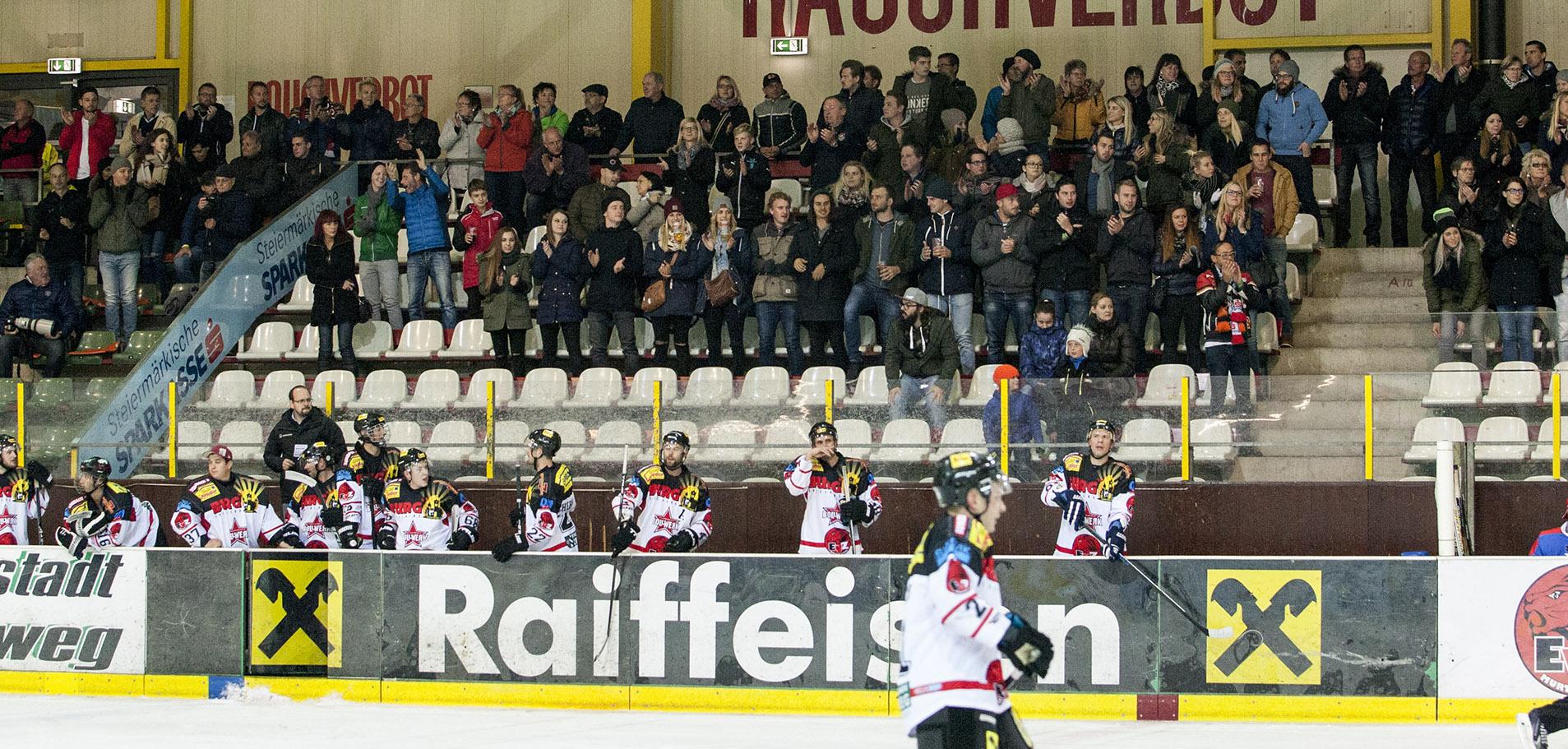 Standing Ovations für die Löwen nach dem Sieg gegen dem 5:1 ATSE Graz