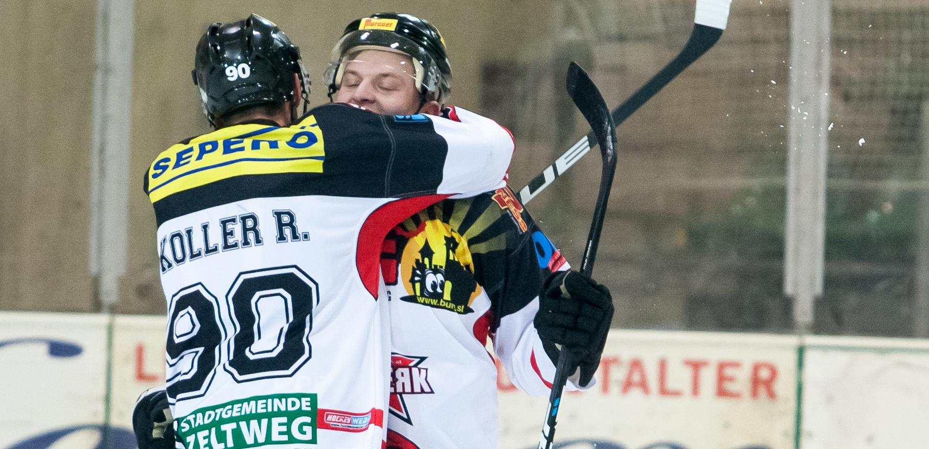 EV Zeltweg Murtal Lions Spieler Bobby Koller und Daniel Panzer