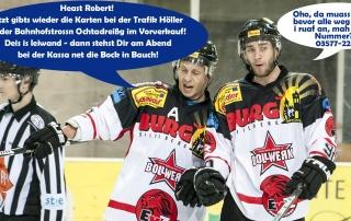 Kartenvorverkauf für das Spiel am 11.3. bei Trafik Höller!
