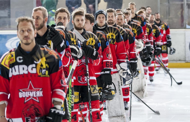 Team EVZ vor dem Spiel in Kapfenberg