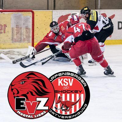 EV Zeltweg Murtal Lions Meisterschaftsspiel gegen die KSV Eishockey Kaengurus