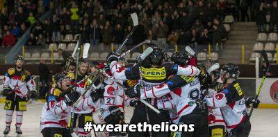 Riesiger Jubel bei den Löwen nach dem Overtime Sieg gegen den ATSE